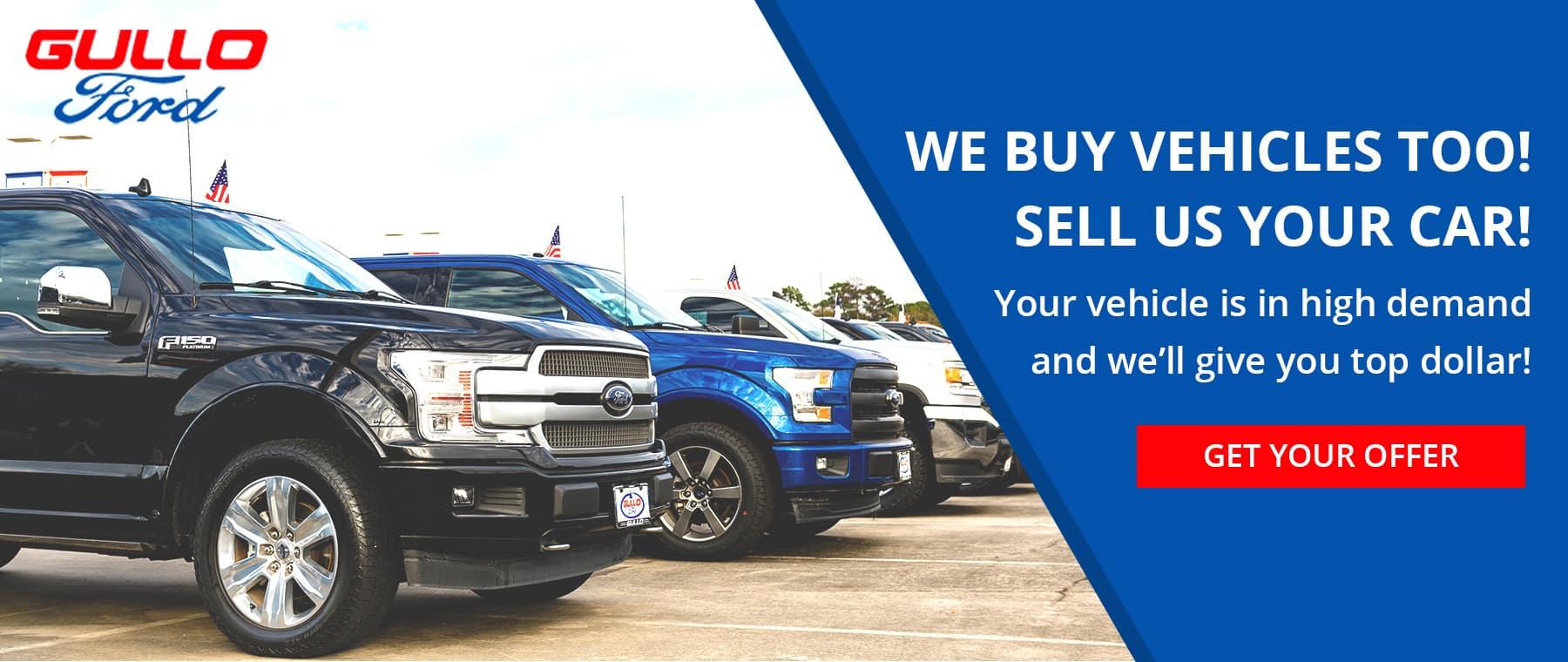 We buy vehicles