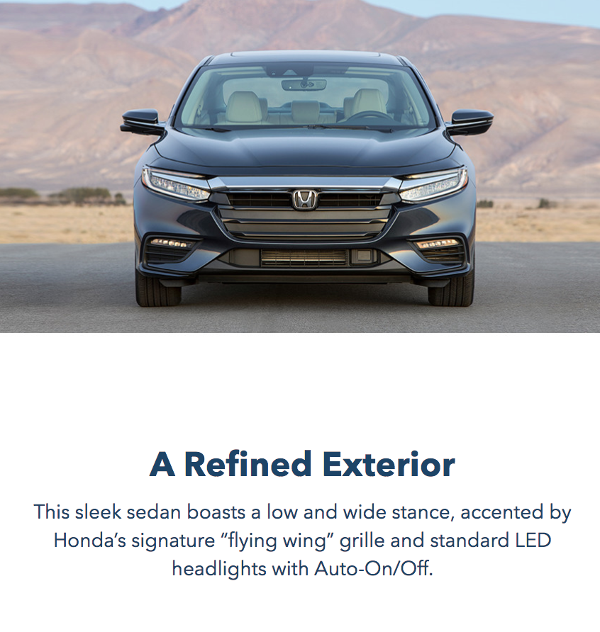 2019 Honda Insight Refined Exterior