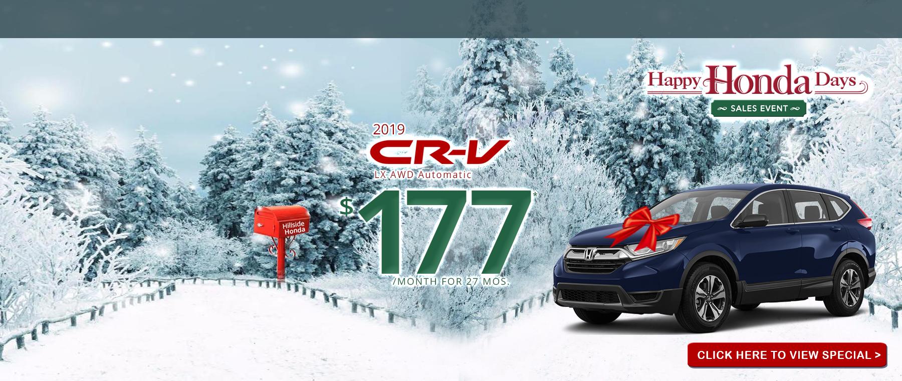 2019 honda Crv lx lease