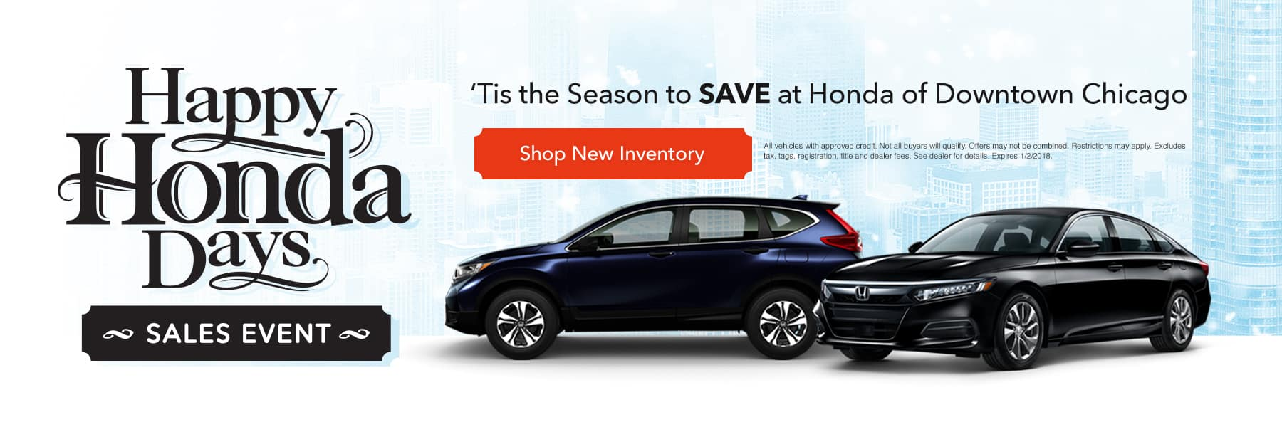 Tis the season to save at Honda of Downtown Chicago - Shop New Inventory