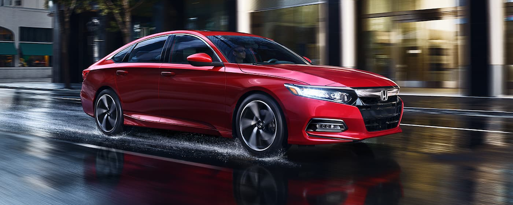 2020 Honda Accord on a wet road