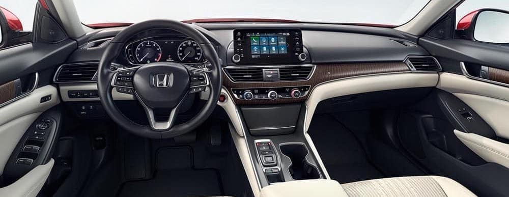 2018 Honda Accord interior dashboard view