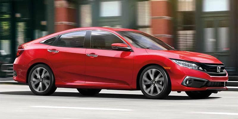 2019 Honda Civic Sedan Driving Through the City