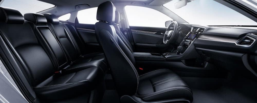 interior view of civic front and back seats the 2019 honda civic