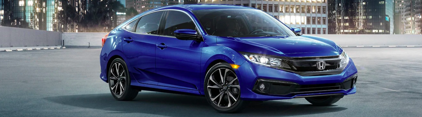 2019 honda civic blue sedan
