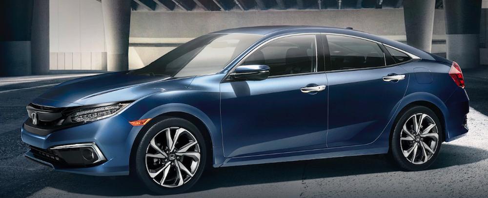 Blue Metallic Honda Civic