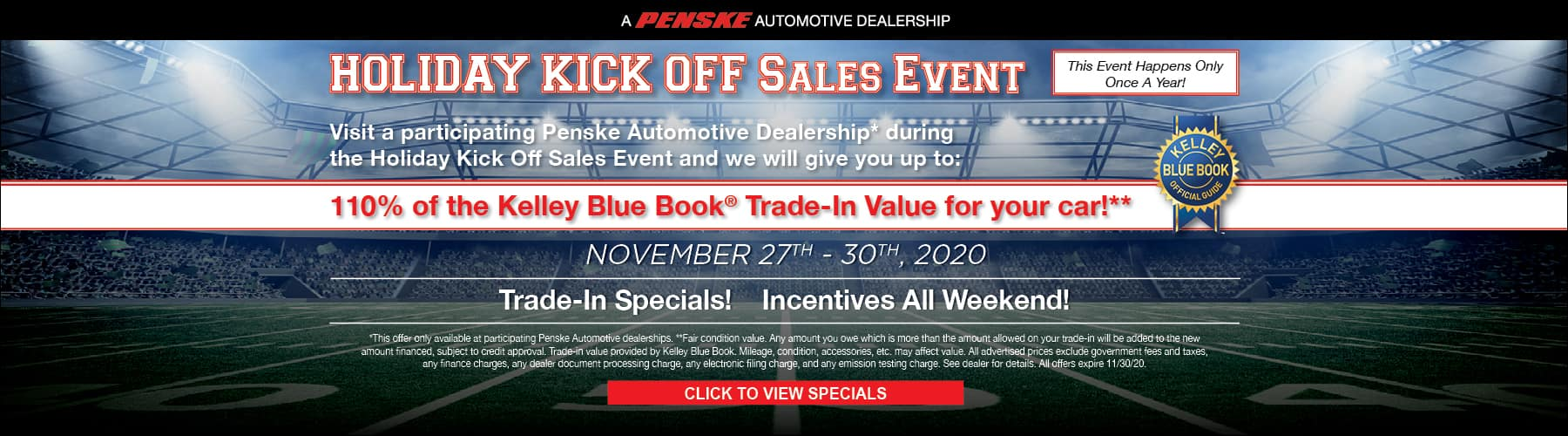 Holiday Kick Off Sales Event
