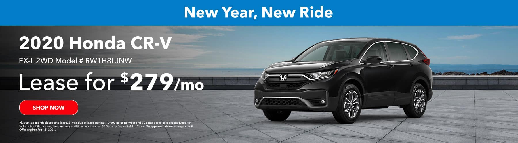 2020 Honda CRV EX-L 2WD