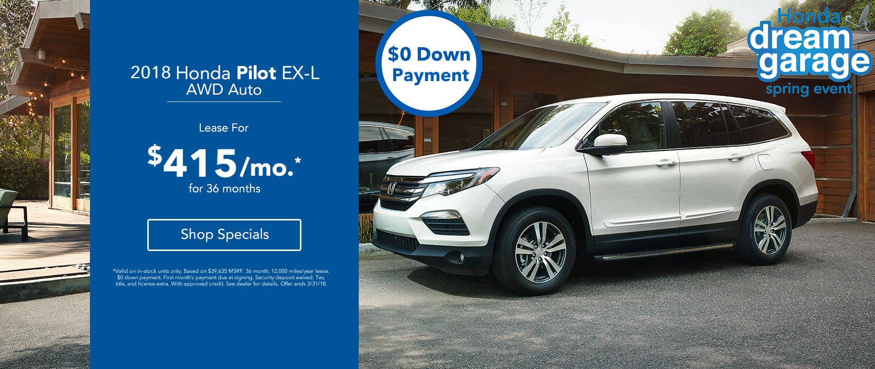 Honda Pilot - Lease for $415/mo