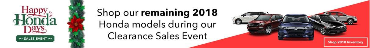 2018 Honda Clearance Event Banner