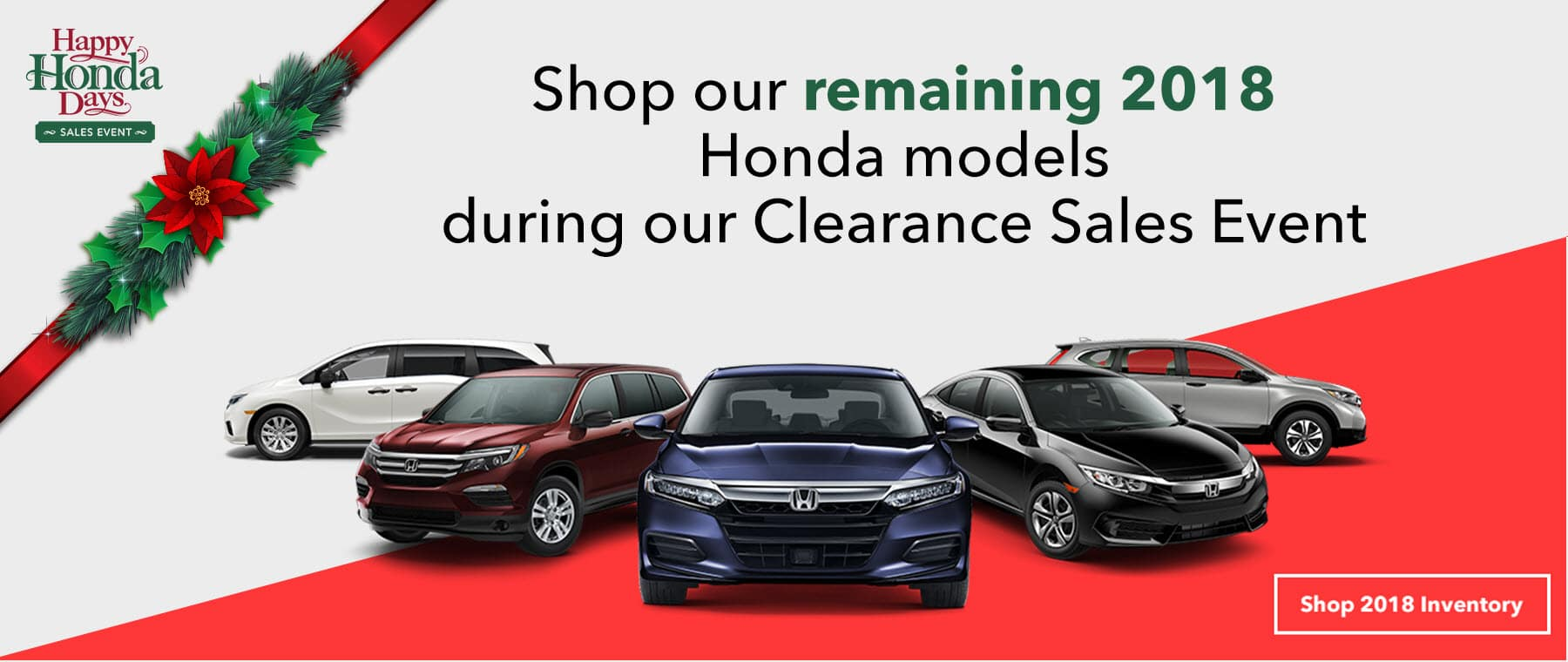 2018 Honda Clearance Event Slide
