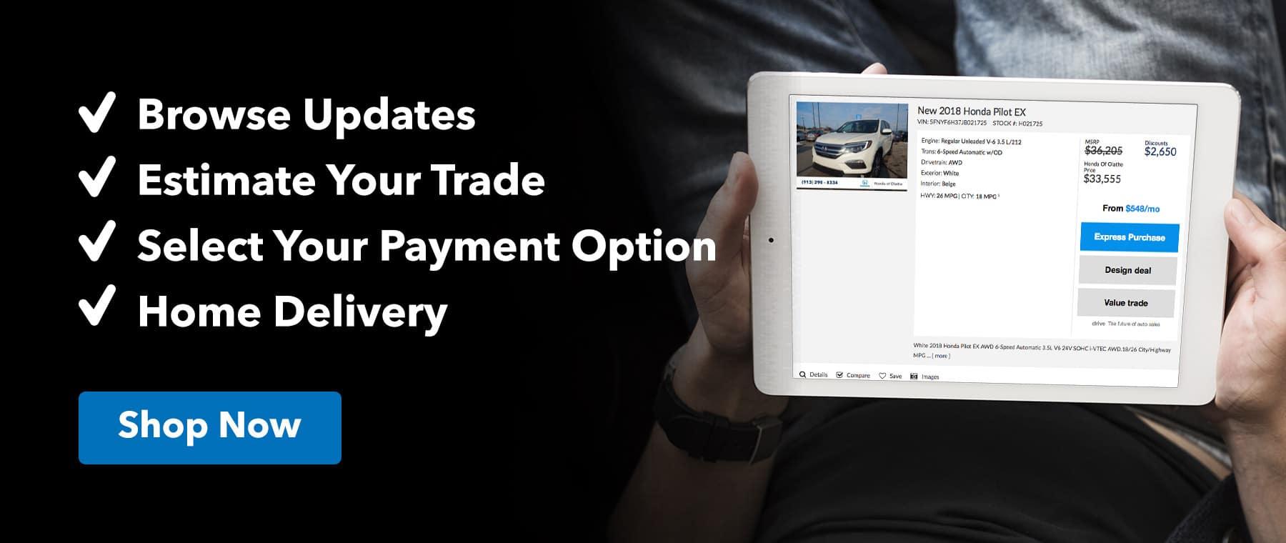 Shop Online with Honda of Olathe