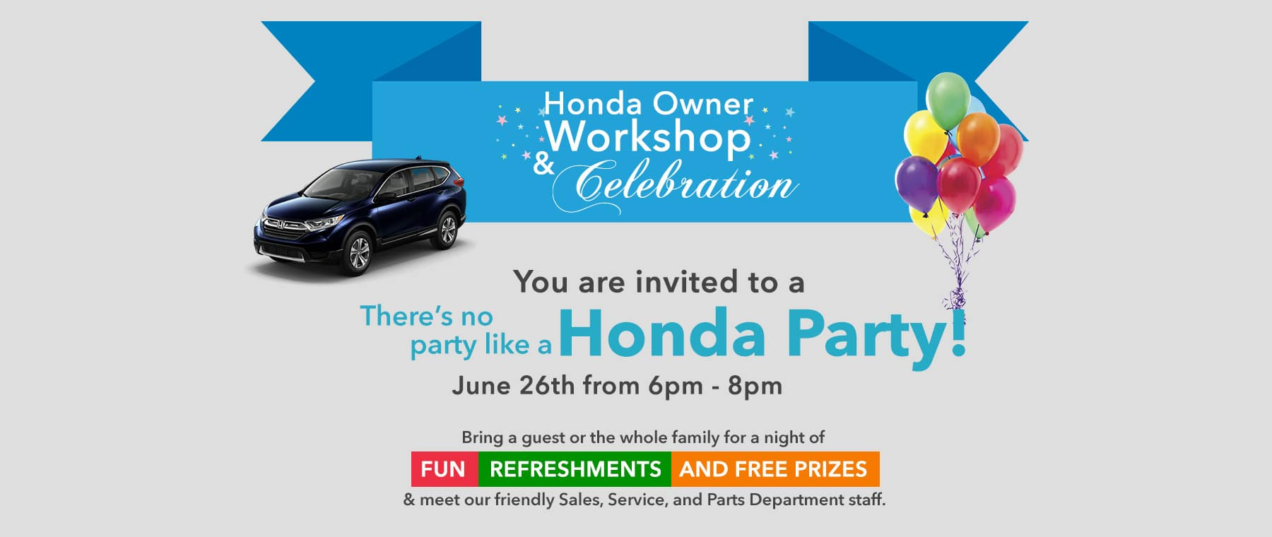 Join Us For Our Honda Owners Workshop