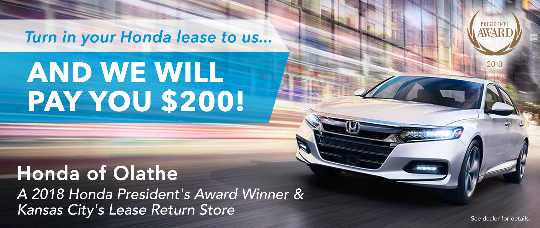 Honda of Olathe Lease Return