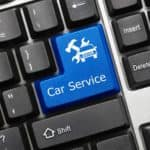 blue car service button on keyboard