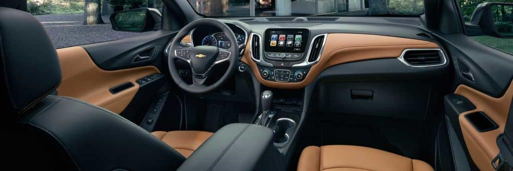 2019 Chevrolet Equinox Jet Black and Brandy interior