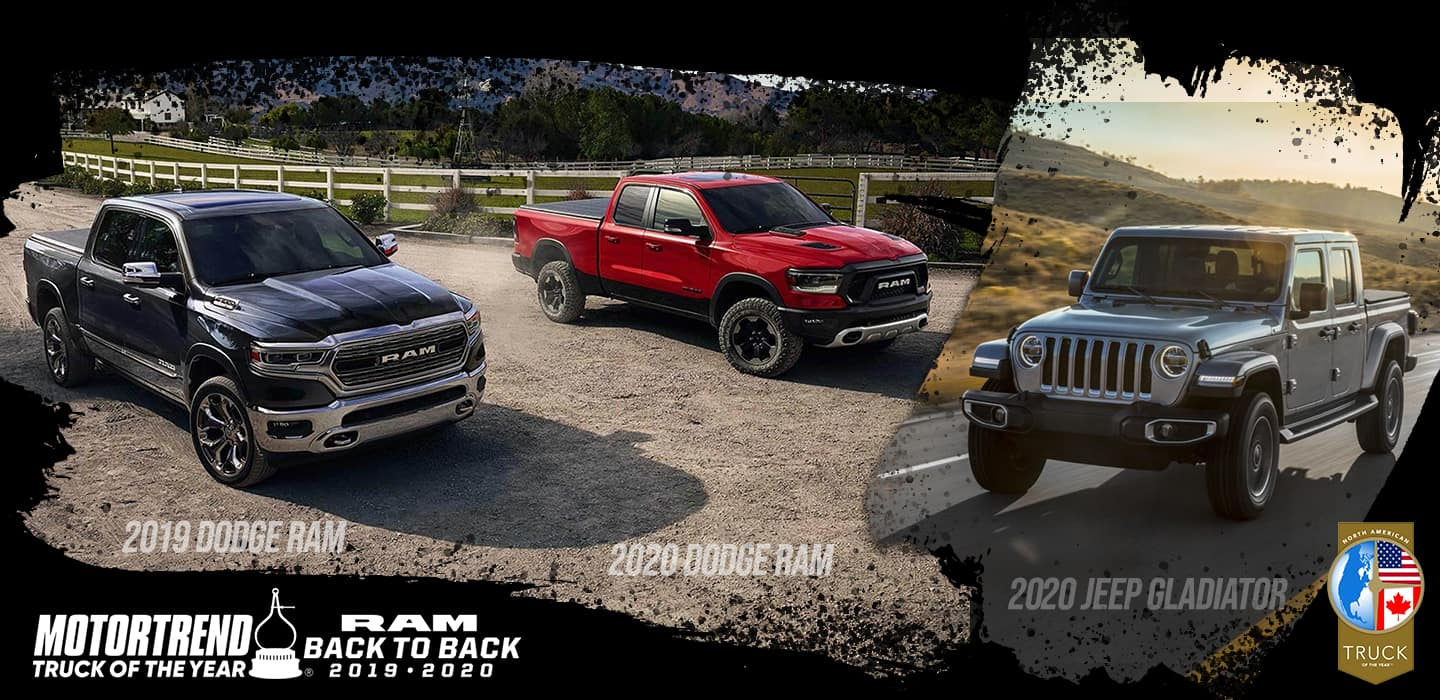 2019 Dodge RAM & 2020 Dodge RAM Motortrend Turck Of The Year Back To Back | 2020 Jeep Gladiator North American Truck of The Year