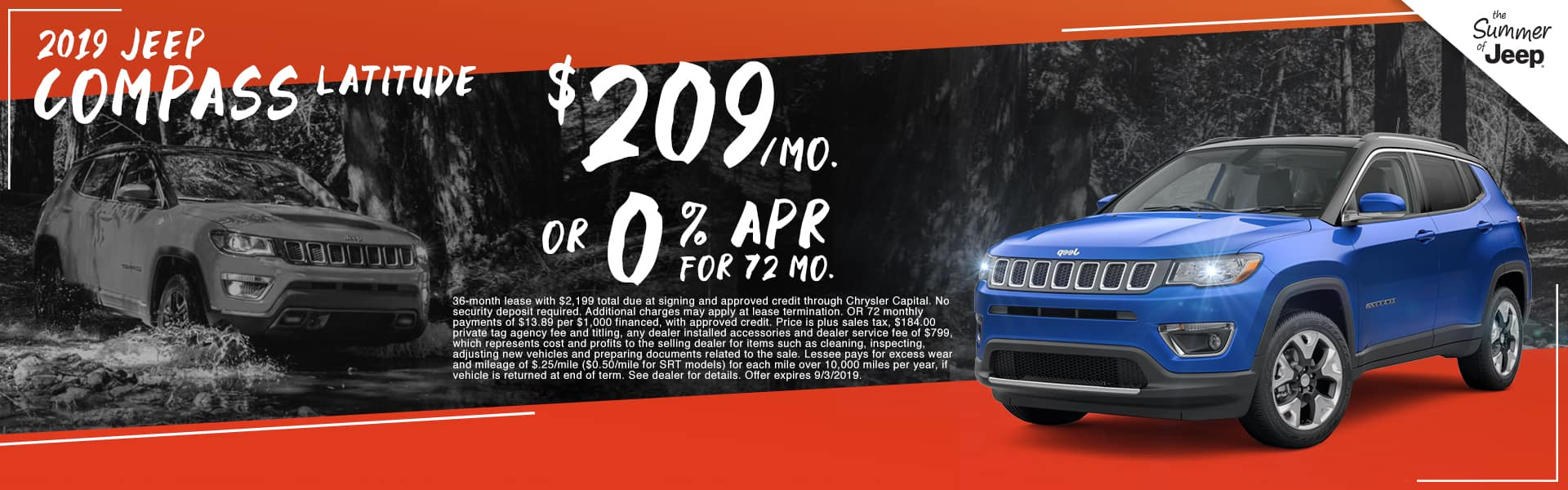 2019 Jeep Compass Latitude | $209 Per Month OR 0% APR For 72 Months