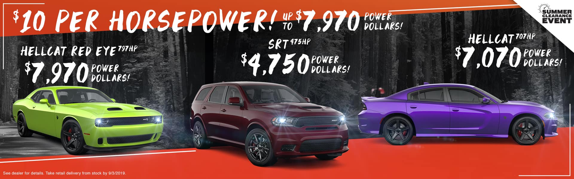 $10 Per Horsepower! | Up To $7,970 Power Dollars! | Hellcat Red Eye 797HP $7,970 Power Dollars! | SRT 475HP $4,750 Power Dollars! | Hellcat 707HP $7,070 Power Dollars!