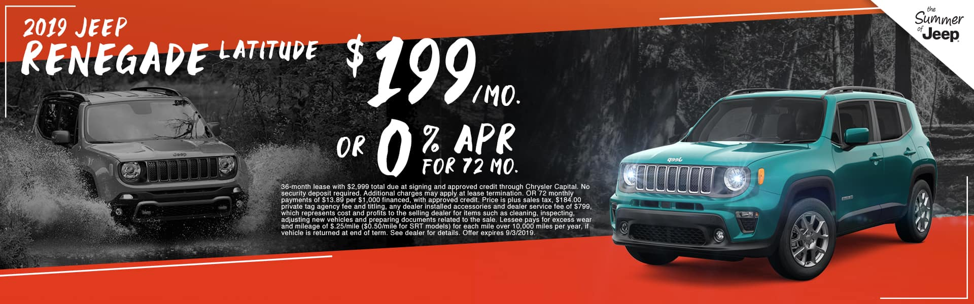 2019 Jeep Renegade Latitude | $199 Per Month OR 0% APR For 72 Months