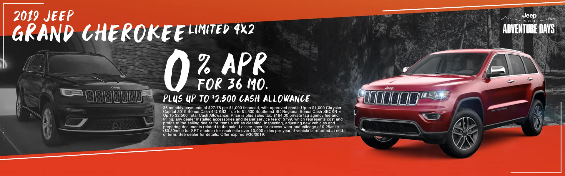 2019 Jeep Grand Cherokee Limited 4x2 | 0% APR For 36 Months PLUS Up To $2,500 Cash Allowance | Jeep 4x4 Adventure Days