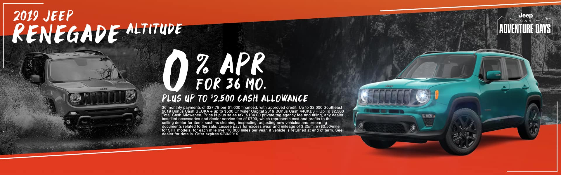 2019 Jeep Renegade Altitude | 0% APR For 36 Months PLUS Up To $2,500 Cash Allowance