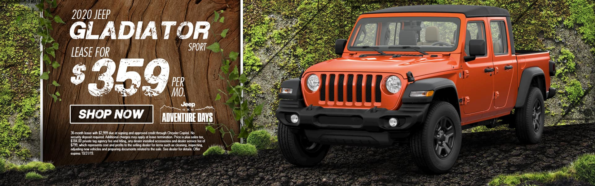 2020 Jeep Gladiator Sport S 4x4 | Lease For $329 Per Month