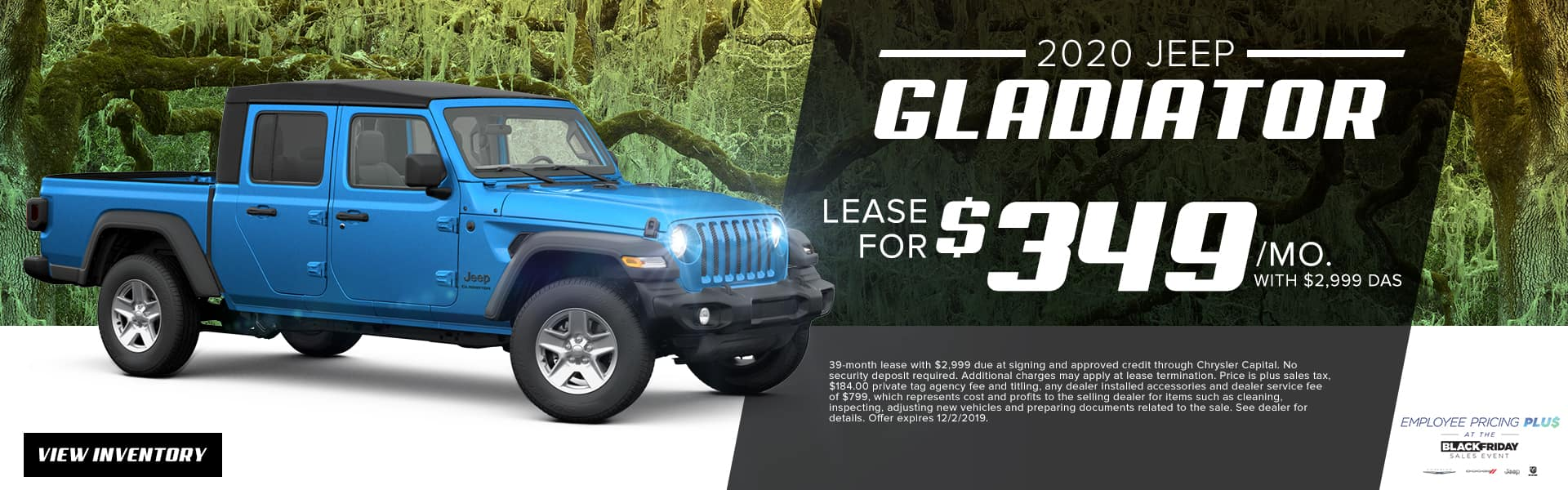 2020 Jeep Gladiator | Lease For $349 Per Month With $2,999 Due At Signing