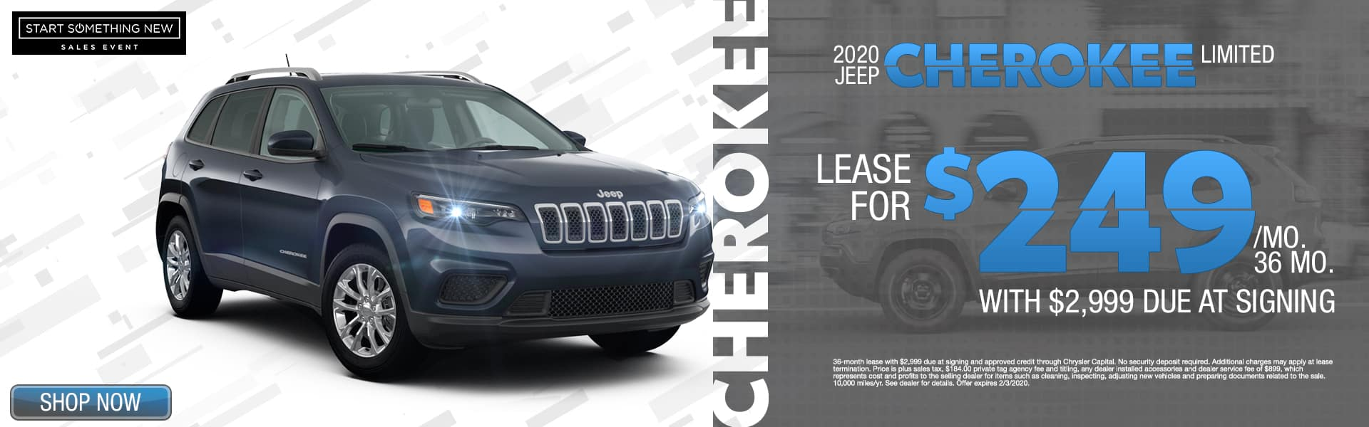 2020 Jeep Cherokee Limited | Lease For $249/Mo For 36 Months With $2,999 Due At SIgning