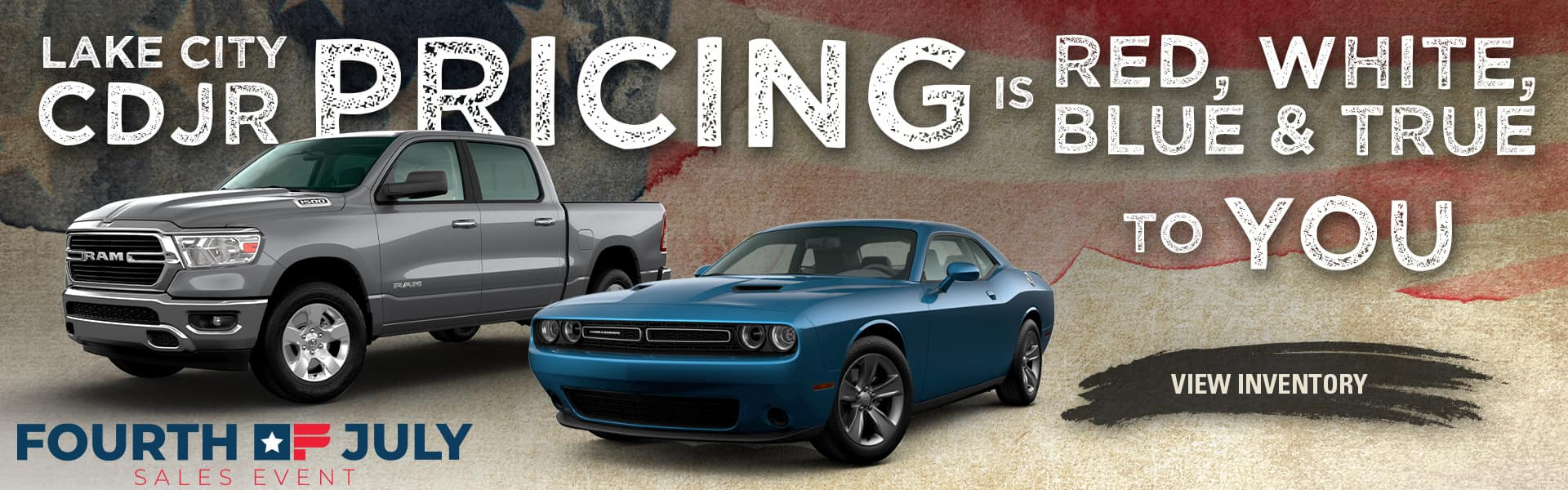 Lake City CDJR Pricing Is Red, White, Blue & True To You! | Fourth of July Sales Event