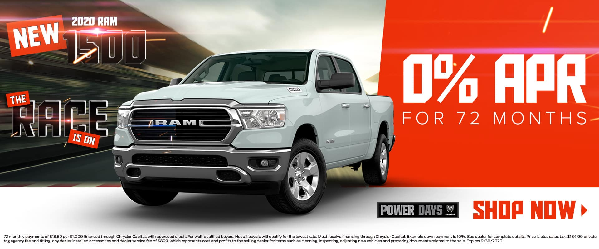 New 2020 RAM 1500 | 0% For 72 Months | The Race Is On | RAM Power Days