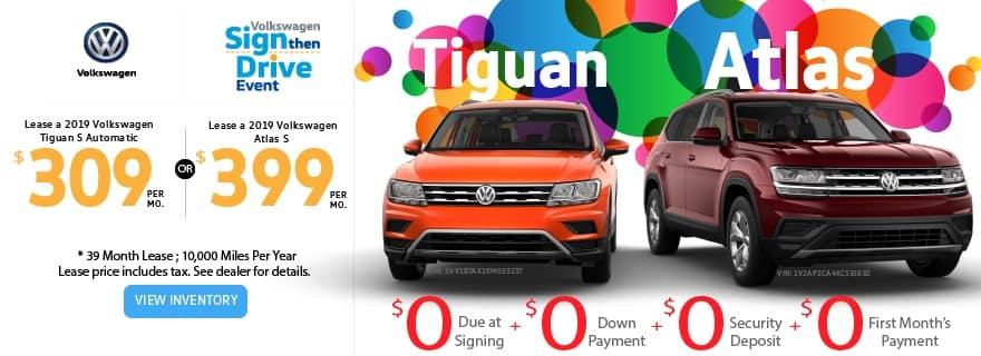 Tiguan/Atlas March Offer
