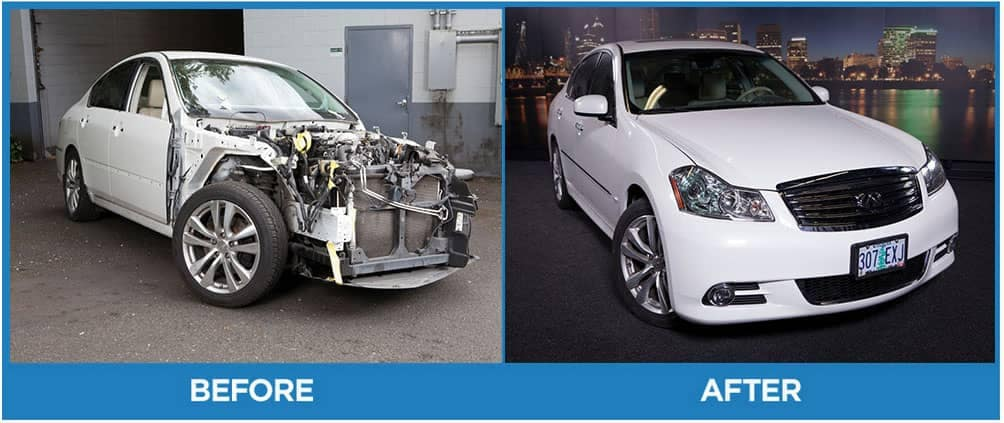 Before and afters of the quality work done by Canyon Road Auto Body