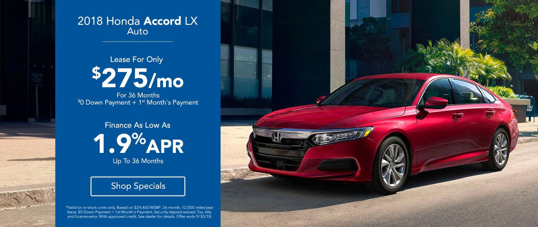 2018 Legends Honda Accord LX