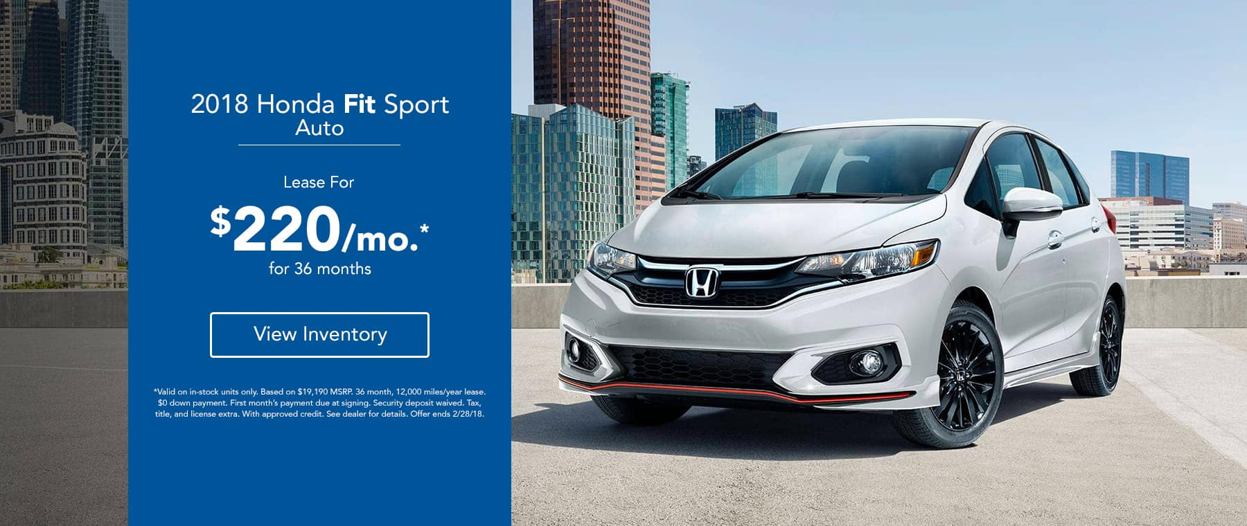 Legends Honda Fit Sport - Lease for $220/mo