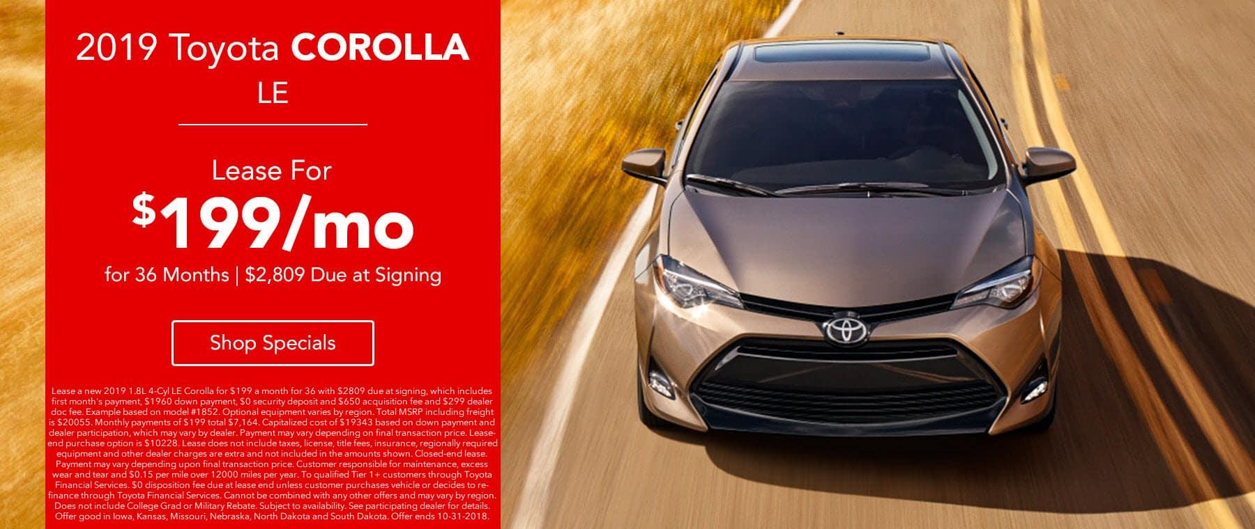 2018 Toyota Carolla