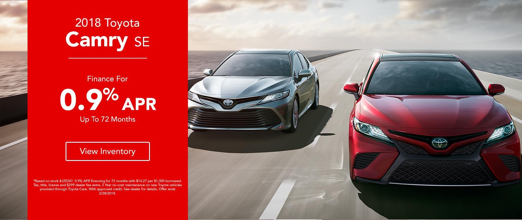 Legends Toyota - 0.9% Financing