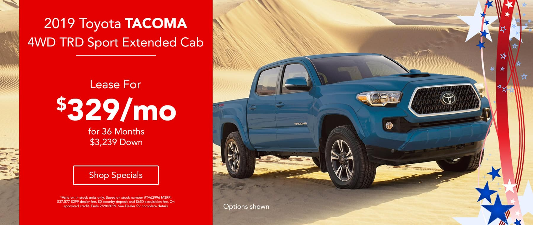 2019 Toyota  Tacoma 4WD TRD Sport Extended Cab