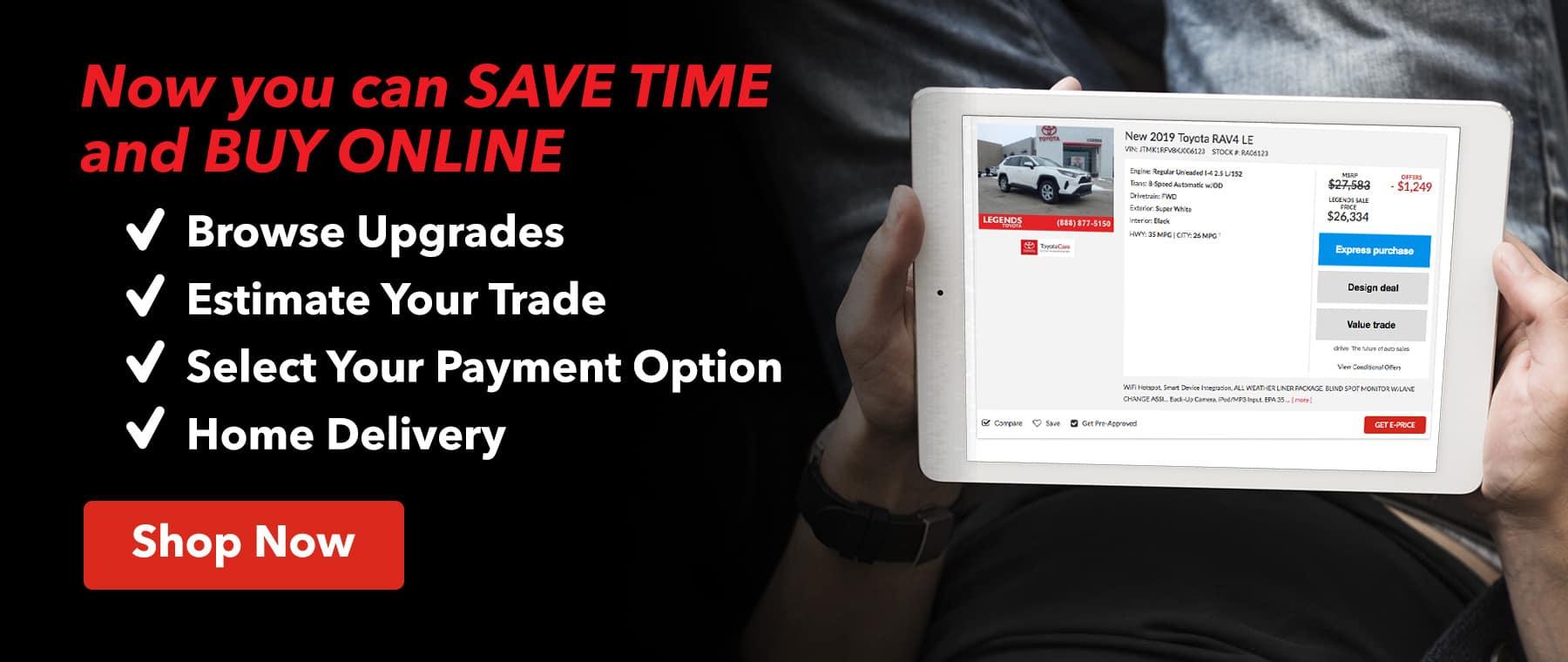 Shop Online At Legends Toyota