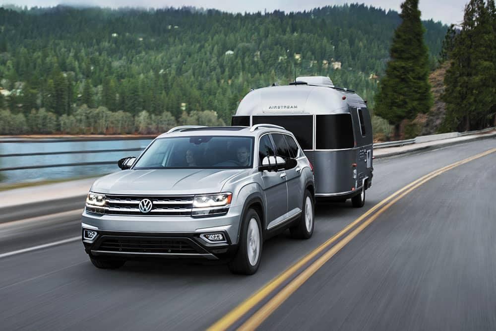 2019 Volkswagen Atlas Towing a Trailer