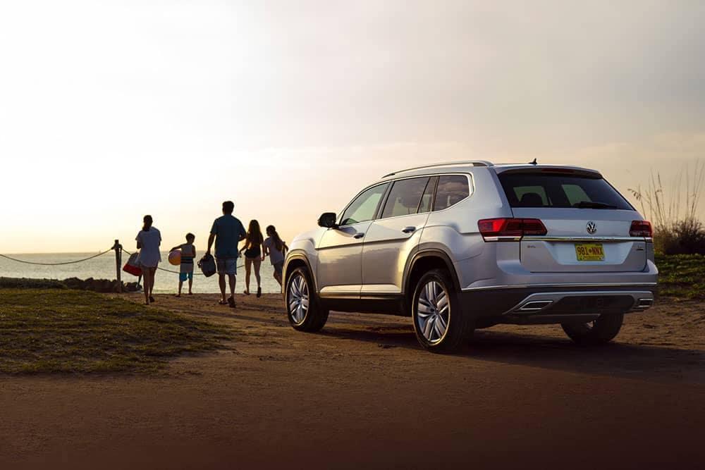2019 Volkswagen Atlas Parked at a Beach