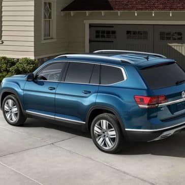 2019 Volkswagen Atlas Parked Outside Home in Driveway