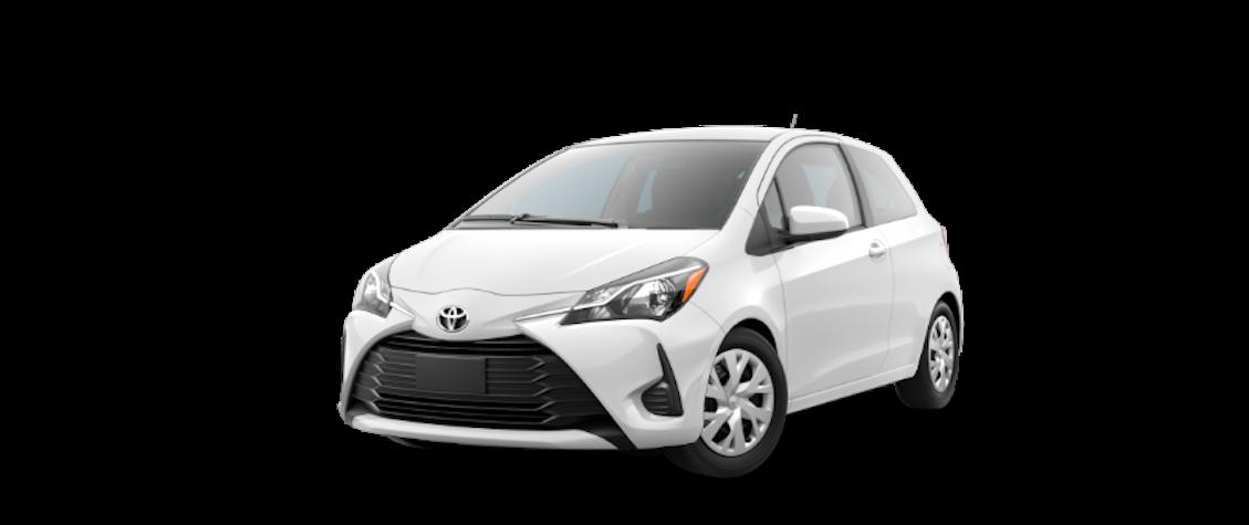 2018 White Toyota Yaris