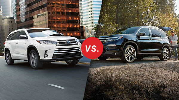 Pilot Vs Highlander >> Comparison 2018 Toyota Highlander Vs 2018 Honda Pilot Longo