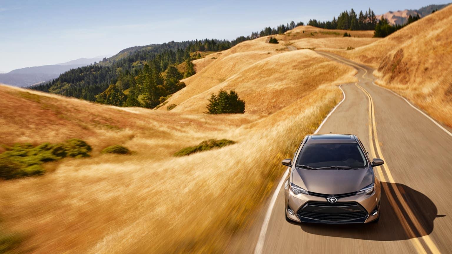 2019 Toyota Corolla driving on road