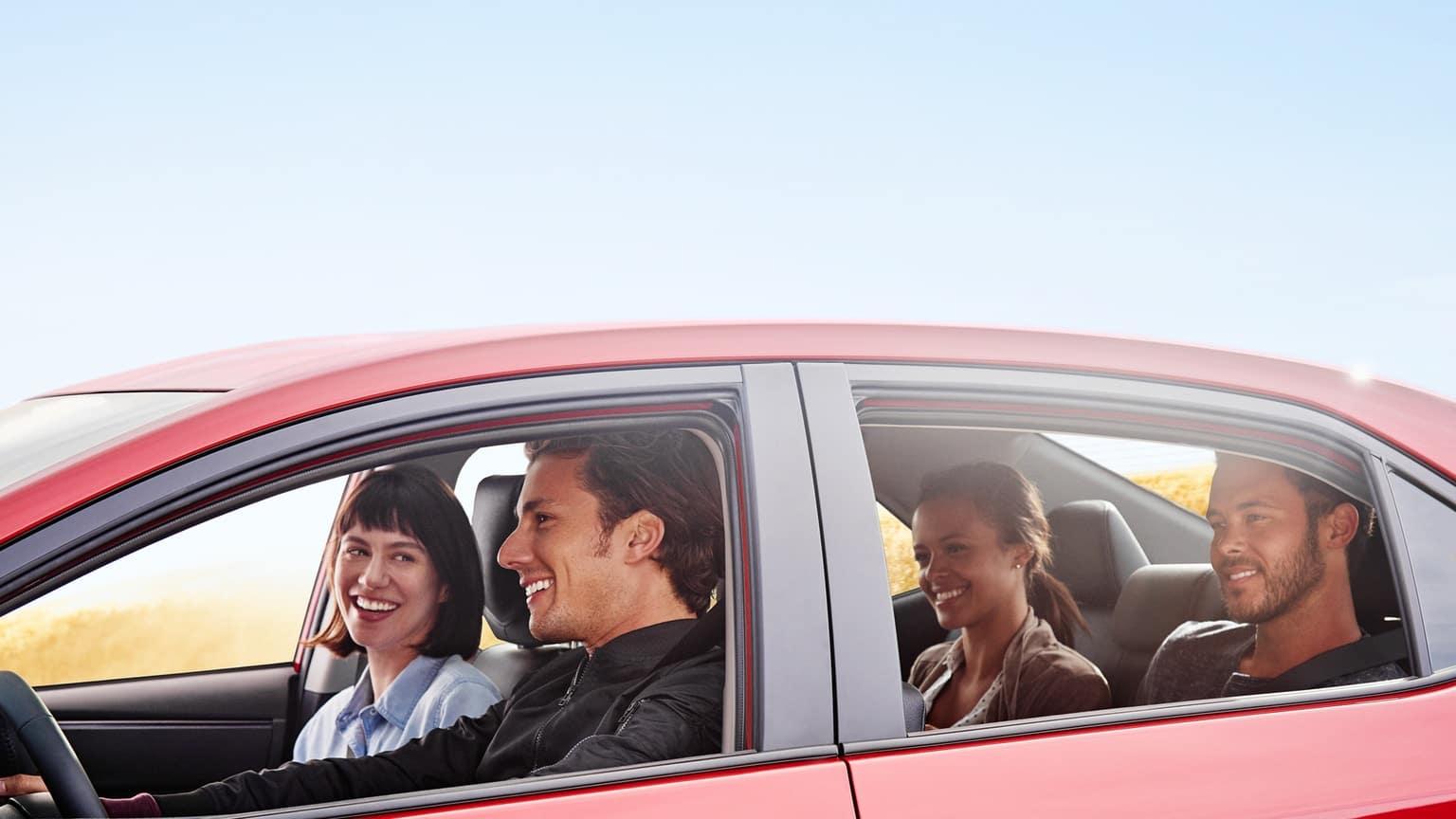 Family inside 2019 Toyota Corolla
