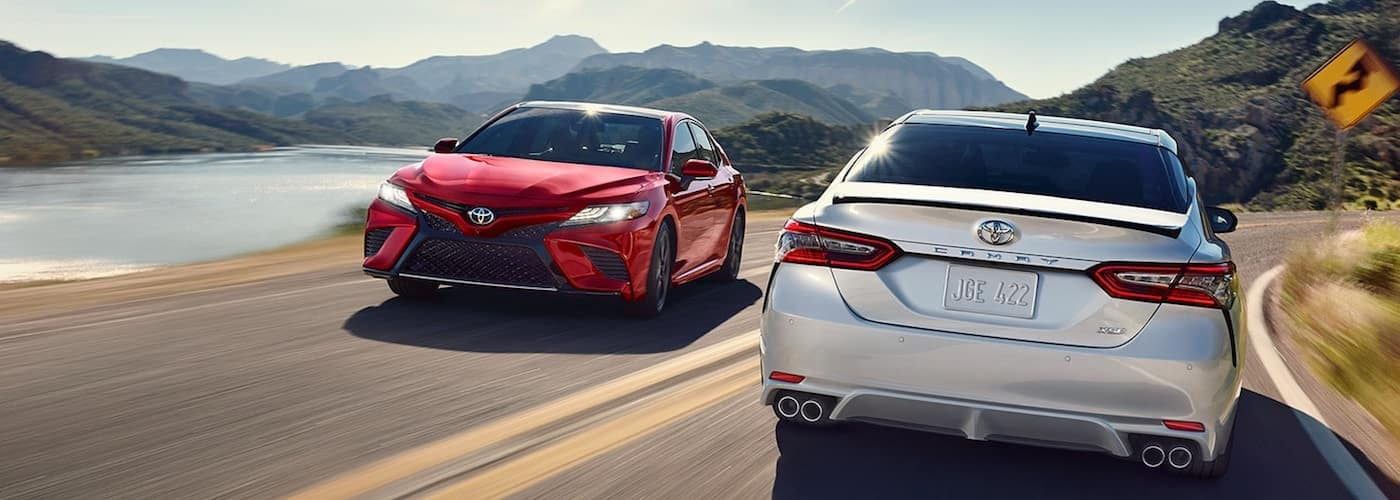 2019 camry models driving on highway