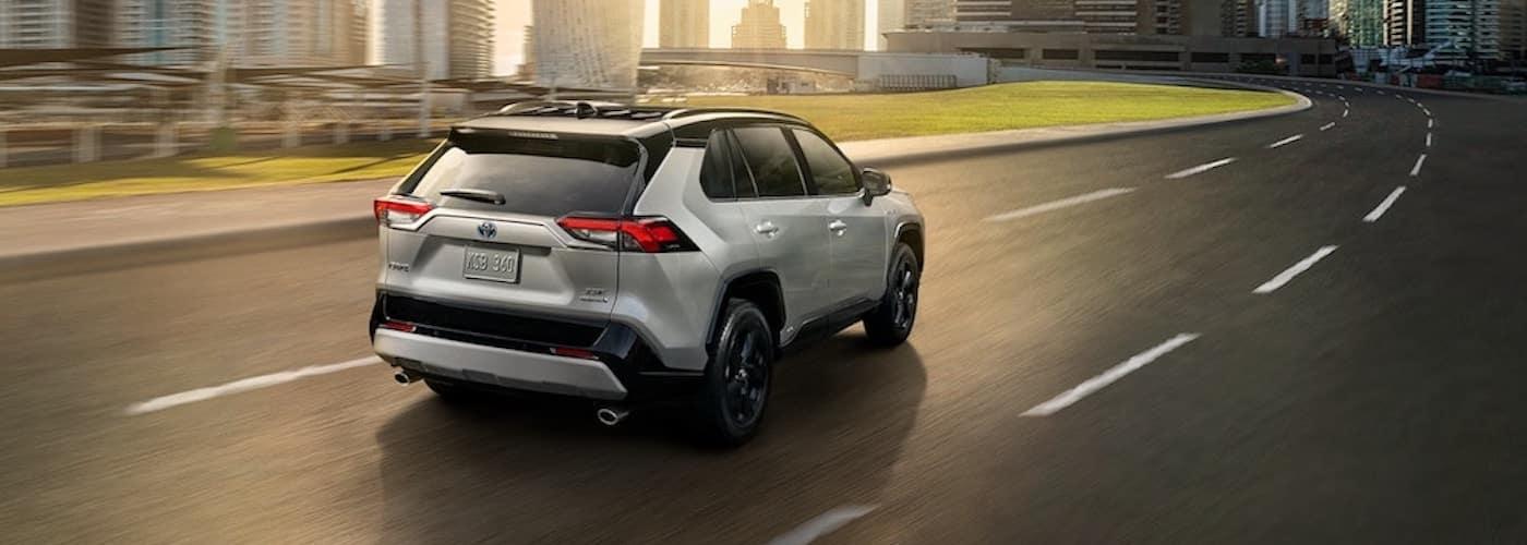 2019 Toyota RAV4 on Highway Driving Towards City