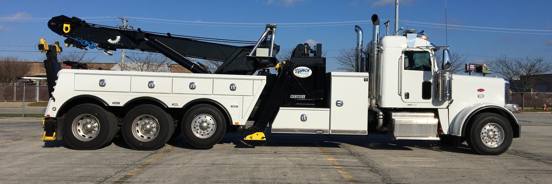 White Heavy Duty Tow Truck