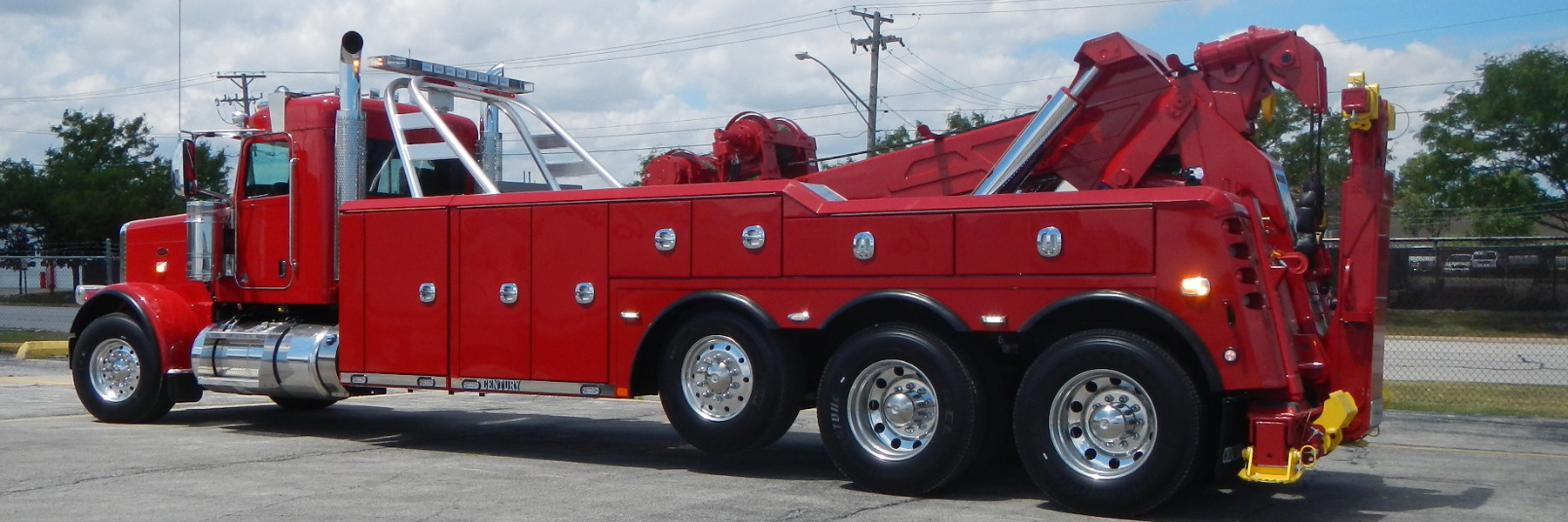 Red Heavy Duty Tow Truck